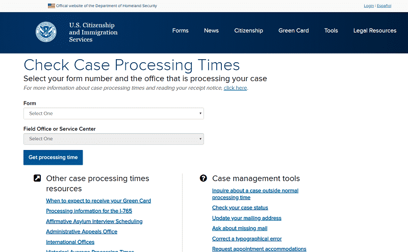 How to Check your USCIS Case Processing Times | Lum Law Group